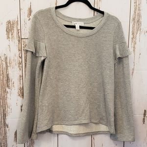 Eye Candy Grey Long Bell Sleeve Pullover Med
